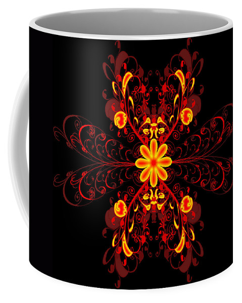 Flower Coffee Mug featuring the digital art Continental Abstract by Svetlana Sewell