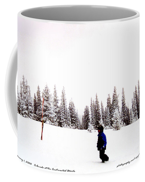 Clay Coffee Mug featuring the photograph Continental Divide January 1 2000 by Clayton Bruster