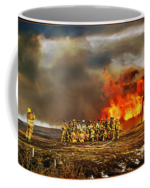 Fire Coffee Mug featuring the photograph Controlled Burn by John Anderson