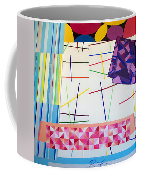 Art Coffee Mug featuring the painting Controlled Chaos by RB McGrath
