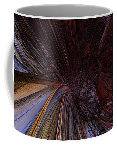 Fractals Art Coffee Mug featuring the digital art Convergence... by R Fafard
