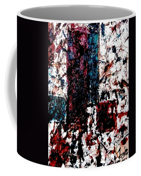 Oil Painting Coffee Mug featuring the painting Conversation by Fareeha Khawaja