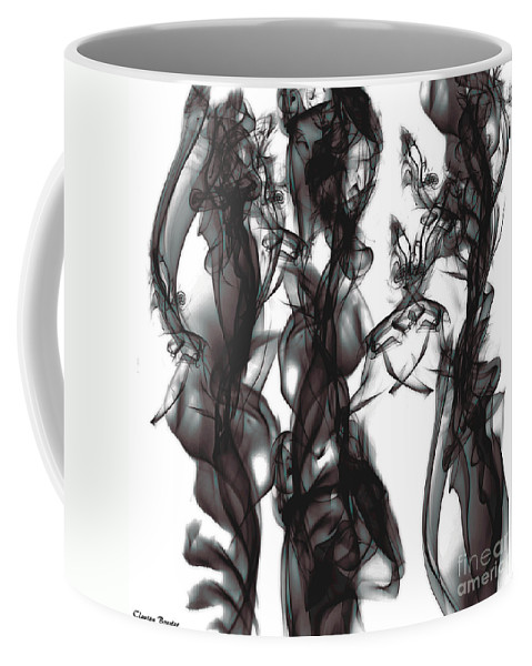 Clay Coffee Mug featuring the digital art Conversations by Clayton Bruster