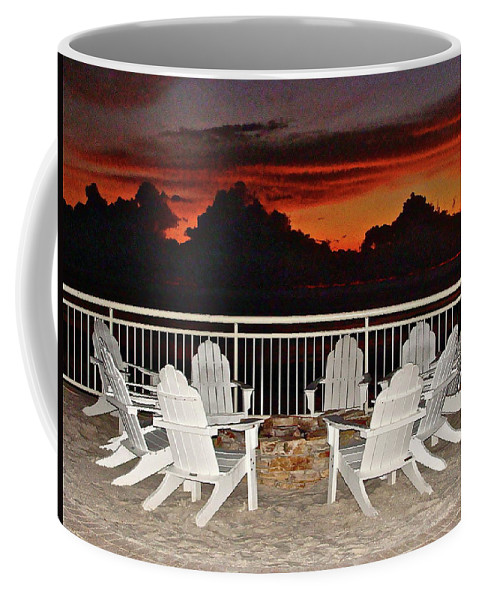 Beach Coffee Mug featuring the photograph Conversations Coming by Diana Hatcher