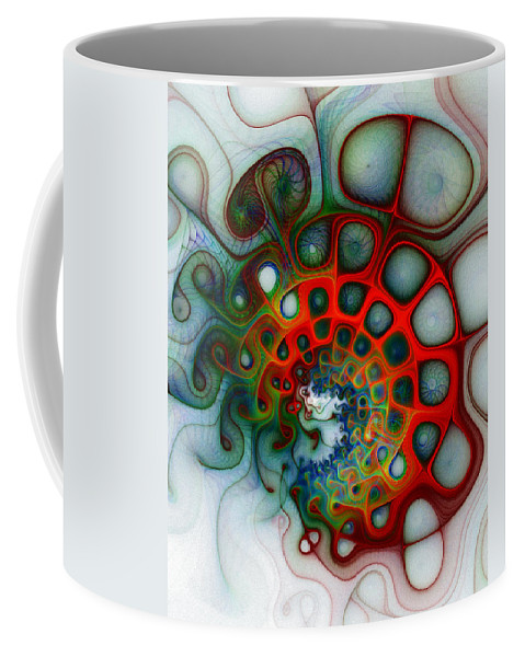 Digital Art Coffee Mug featuring the digital art Convolutions by Amanda Moore