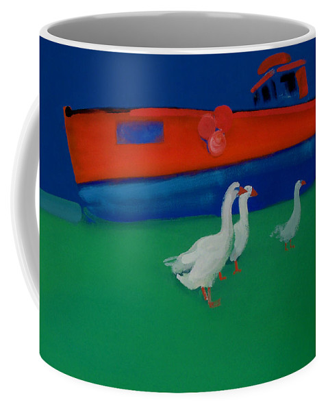 Geese Coffee Mug featuring the painting Cool And Dry by Charles Stuart