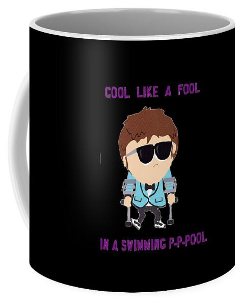 In A Swimming Pool Coffee Mug featuring the digital art Cool Like A Fool by Gibran Arka