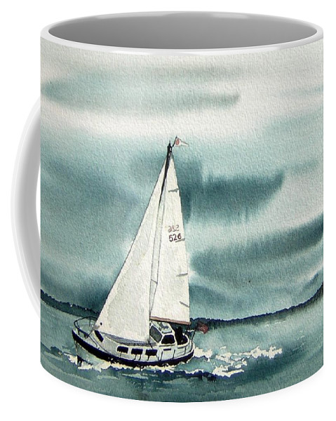 Sailing Coffee Mug featuring the painting Cool Sail by Gale Cochran-Smith