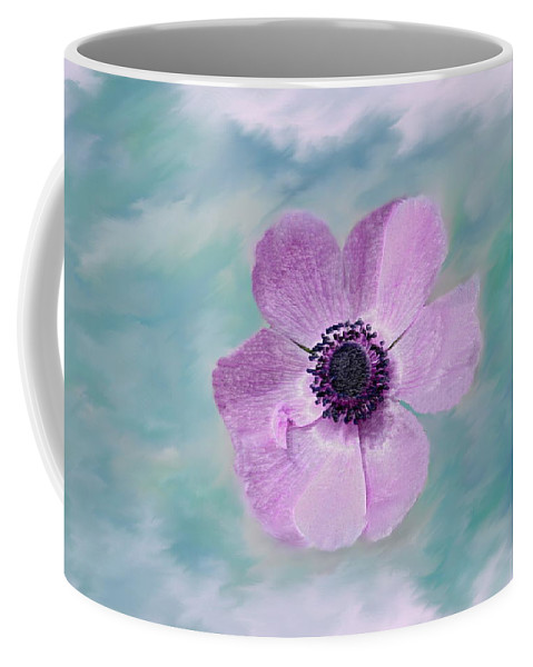 Flowers Floral Macro Nature Gardens Pink Purple Blue Green White Petals Spring Flowers Coffee Mug featuring the photograph Cool Spring by Linda Sannuti
