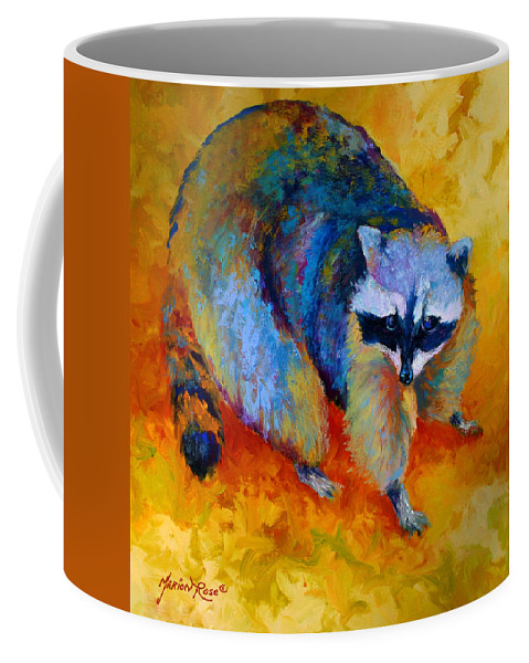Racoon Coffee Mug featuring the painting Coon by Marion Rose