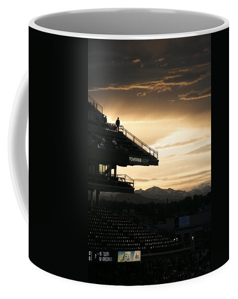Americana Coffee Mug featuring the photograph Coors Field At Sunset by Marilyn Hunt