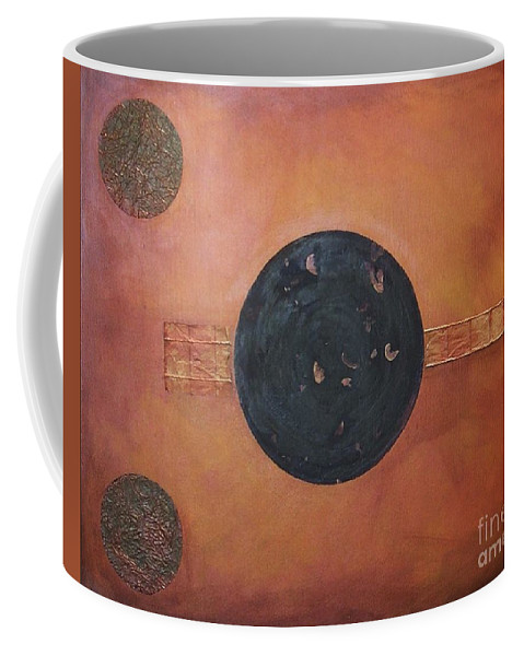 Sets Coffee Mug featuring the painting Copper Clad by Marlene Burns