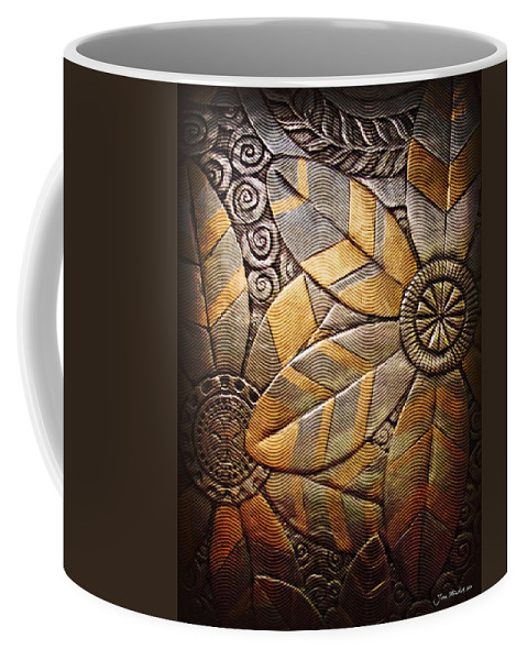 Abstract Coffee Mug featuring the photograph Copper Design by Joan Minchak