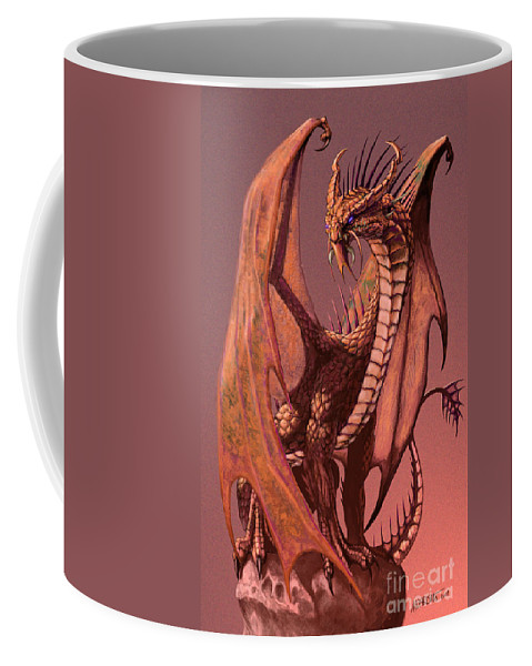 Dragon Coffee Mug featuring the digital art Copper Dragon by Stanley Morrison