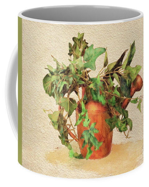 Can Coffee Mug featuring the digital art Copper Watering Can by Lois Bryan