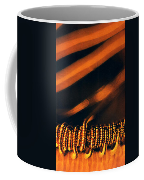 Unusual Angle Photography Coffee Mug featuring the sculpture Copper Wirework. by Catt Kyriacou