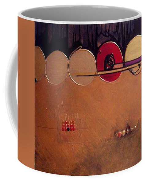 Mixed Media Coffee Mug featuring the painting Coppermind by Marlene Burns