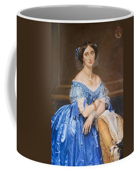 Ingres Coffee Mug featuring the painting Copy After Ingres by Rob De Vries
