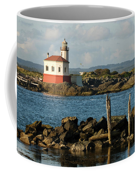 Oregon Coffee Mug featuring the photograph Coquille River Lighthouse Bandon Oregon by Renee Hong
