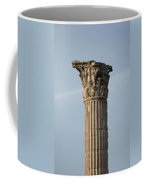 Photography Coffee Mug featuring the photograph Corinthian Columns At The Roman Forum by Joel Sartore