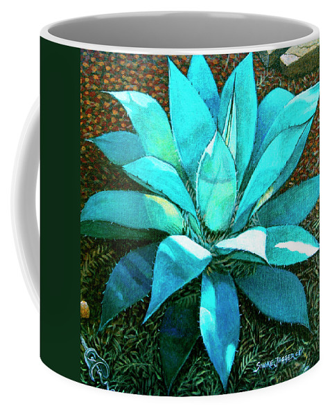 Cactus Coffee Mug featuring the painting Corkscrew by Snake Jagger