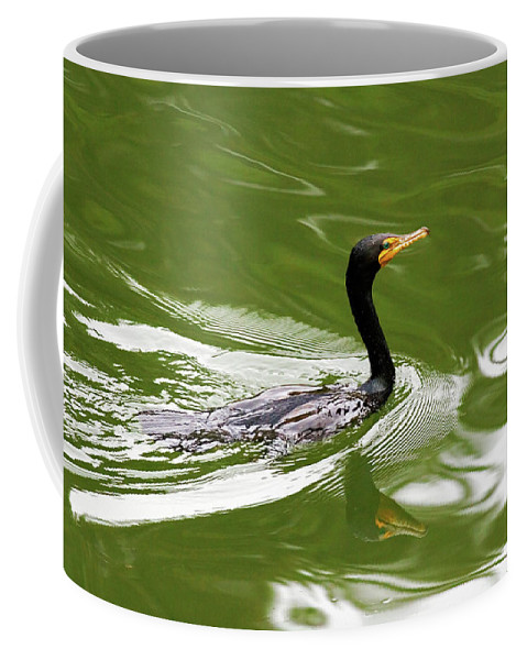 Double-crested Cormorant Coffee Mug featuring the photograph Cormorant by Randall Ingalls