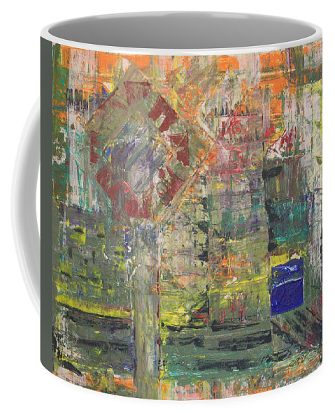 Abstract Painting Coffee Mug featuring the painting Corner Deli by J R Seymour