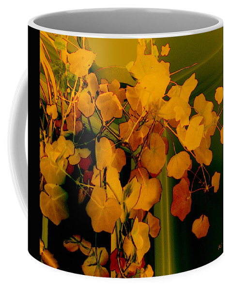 Autumn Coffee Mug featuring the digital art Corner In Green And Gold by RC DeWinter