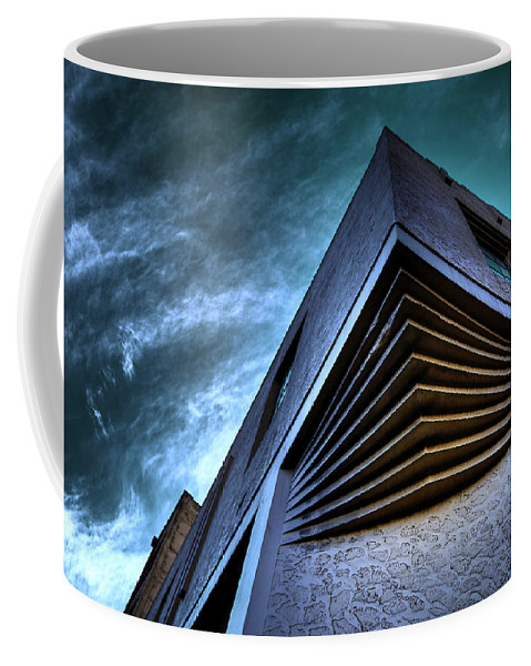 Architecture Coffee Mug featuring the photograph Corner Shot by Wayne Sherriff