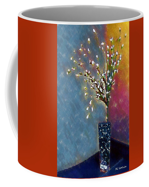 Still Life Coffee Mug featuring the painting Cornered by RC DeWinter