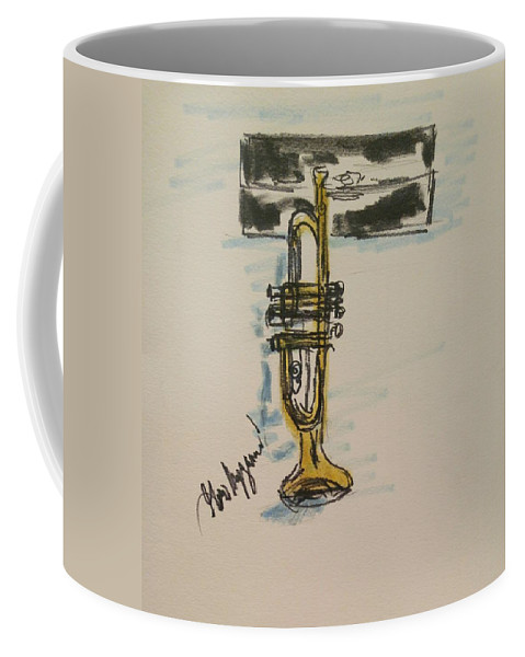 Cornet Coffee Mug featuring the painting Cornet by Geraldine Myszenski