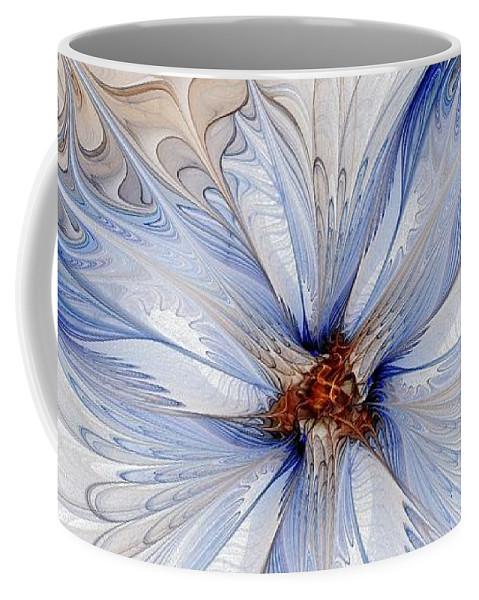 Digital Art Coffee Mug featuring the digital art Cornflower blues by Amanda Moore