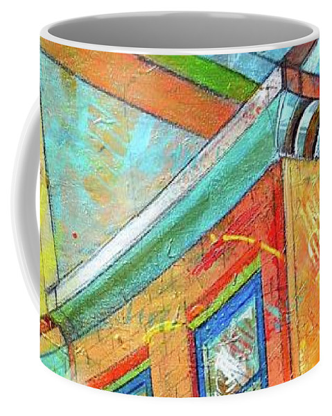 Building Coffee Mug featuring the painting Cornice by Christopher Triner