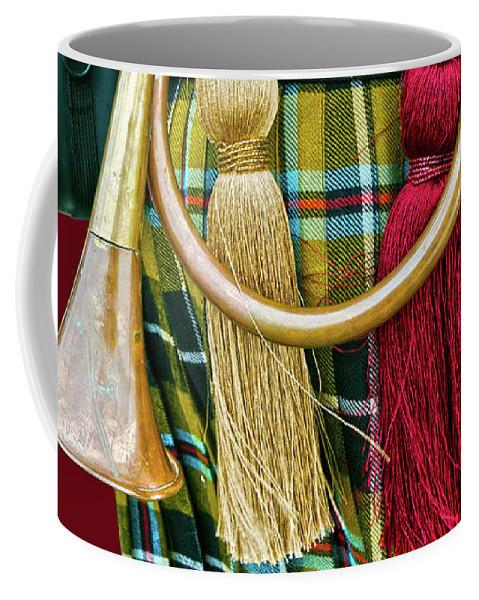 Cornish Coffee Mug featuring the photograph Cornish National Tartan by Terri Waters