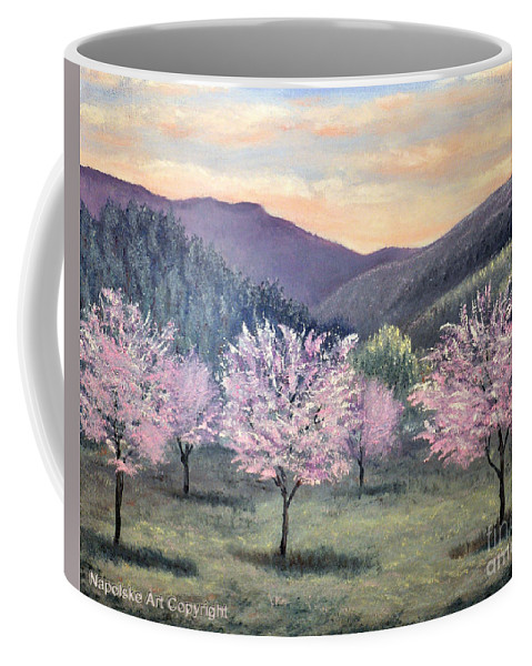 Landscape Coffee Mug featuring the painting Corrales New Mexico by Barney Napolske