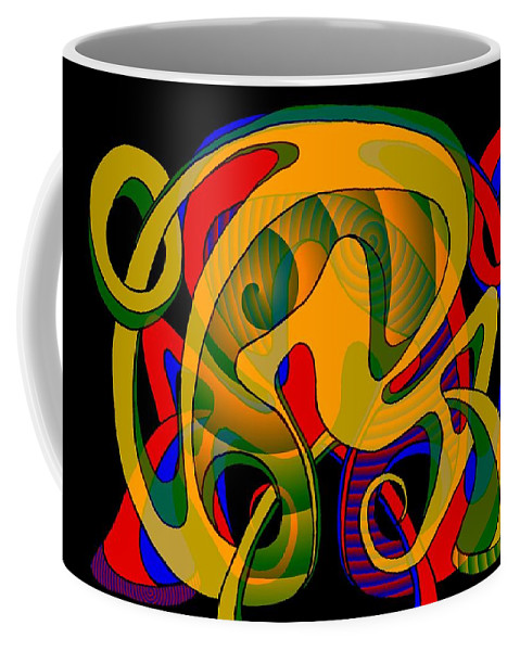 Life Coffee Mug featuring the digital art Corresponding independent Lifes by Helmut Rottler