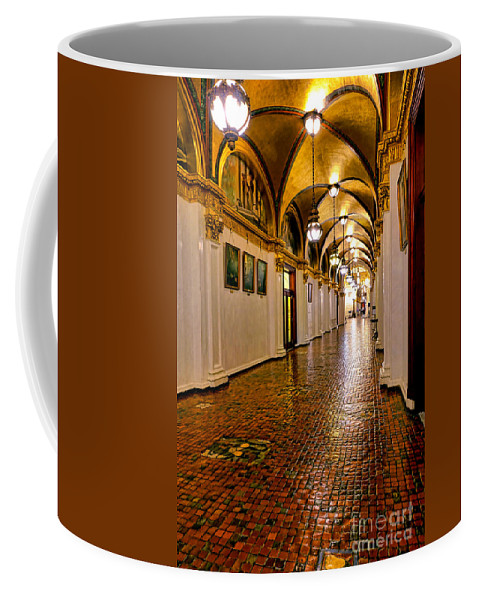 Commonwealth Coffee Mug featuring the photograph Corridor Of Power In Harrisburg by Olivier Le Queinec
