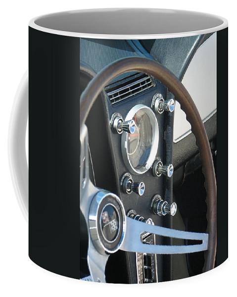 Corvette Coffee Mug featuring the photograph Corvette Console by Kelly Mezzapelle
