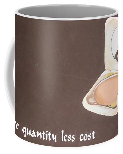 Paintings Coffee Mug featuring the painting Cosmetics Advert by Olaoluwa Smith