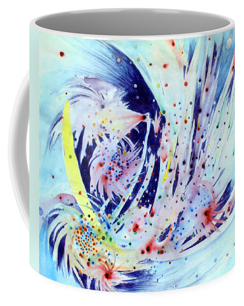 Abstract Coffee Mug featuring the painting Cosmic Candy by Steve Karol
