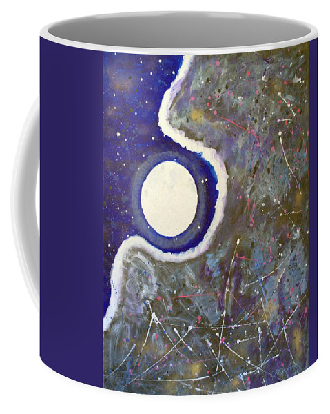 Impressionist Painting Coffee Mug featuring the painting Cosmic Dust by J R Seymour