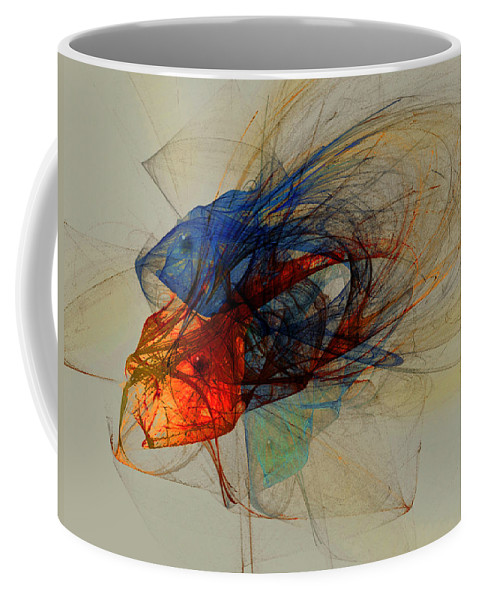 Fish Coffee Mug featuring the digital art Cosmic Fish by Stephen Lucas