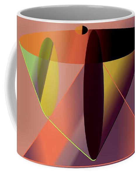Cosmic Coffee Mug featuring the digital art Cosmic Lifecircuits by Helmut Rottler