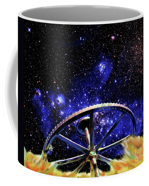 Bodie Coffee Mug featuring the photograph Cosmic Wheel by Jim And Emily Bush