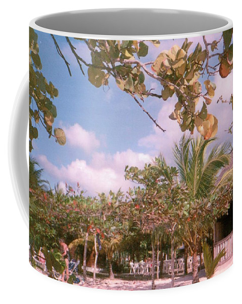 Jamaica Coffee Mug featuring the photograph Cosmos At Negril by Debbie Levene