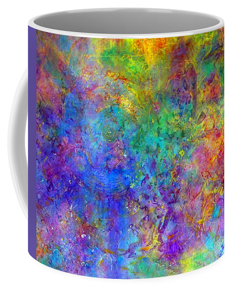 Acrylic Coffee Mug featuring the painting Cosmos by Claire Bull