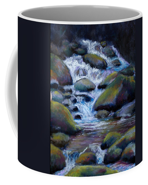 Landscape Coffee Mug featuring the painting Costa Rican Stream by Susan Jenkins