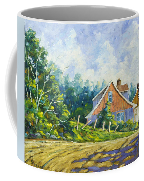 Art Coffee Mug featuring the painting Cote Ste Anne De Beaupre by Richard T Pranke
