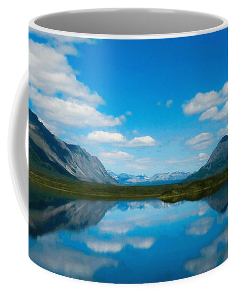 Beauty Spot Coffee Mug featuring the digital art Cottage At Lake by Max Steinwald