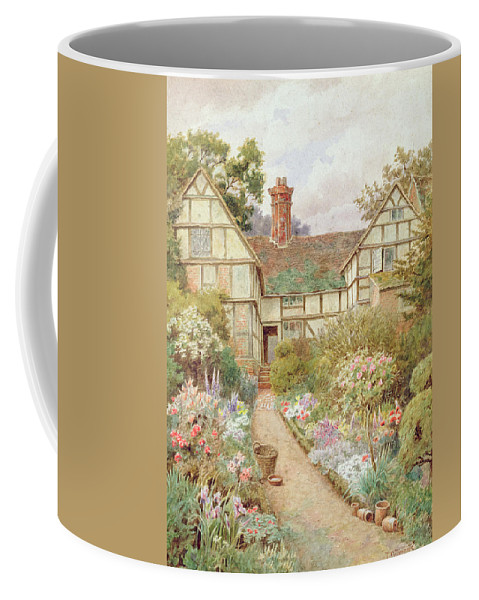 Cottage Coffee Mug featuring the painting Cottage Garden by Thomas Nicholson Tyndale